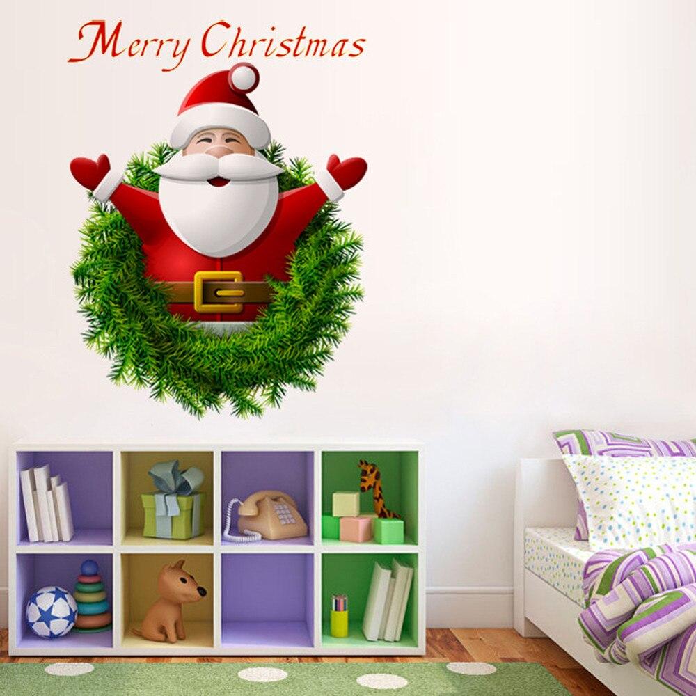 Aliexpress.com : Buy New year hot Cartoon Santa Claus Wall ...