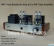 HIFI Tube Earphone Amp 1W output 32 to 600 ohm & Class A Tube Amplifier  2 X 8W 6N2 Drive FU32 Built 6.5mm Jack High Quality