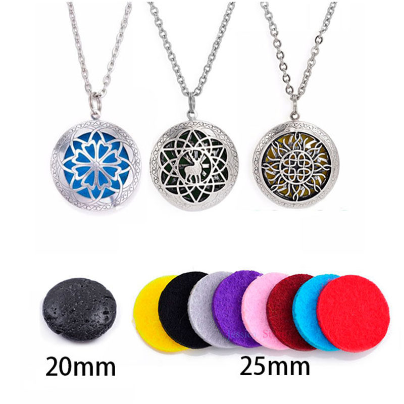 10Pcs 72cm Chain Antique Silver Rhodium Diffuser Necklace For Gift in Pendants from Jewelry Accessories