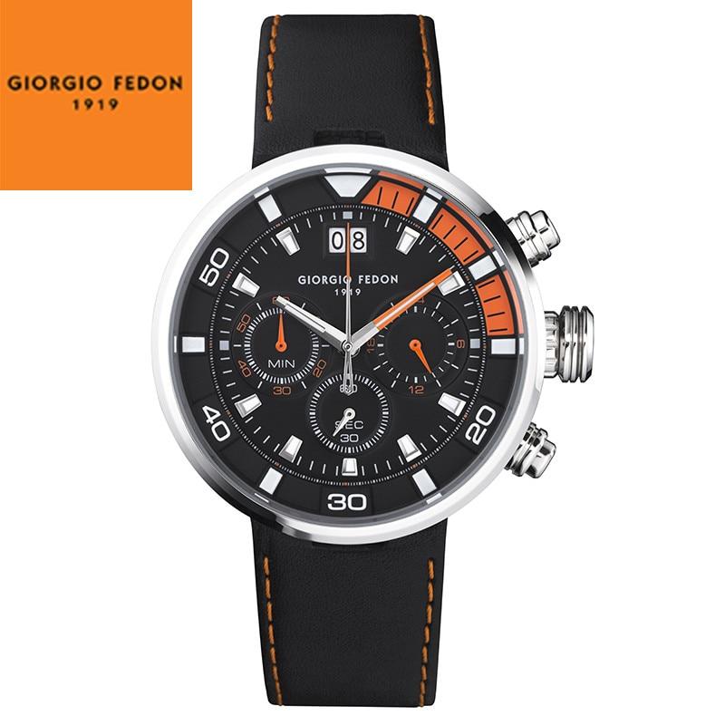 GIORGIO FEDON 1919 Speed Timer V Men Watch Luxury Italian