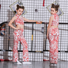 New childrens costumes improved cheongsam Chinese style dance clothes girls catwalk costume group performance clothing