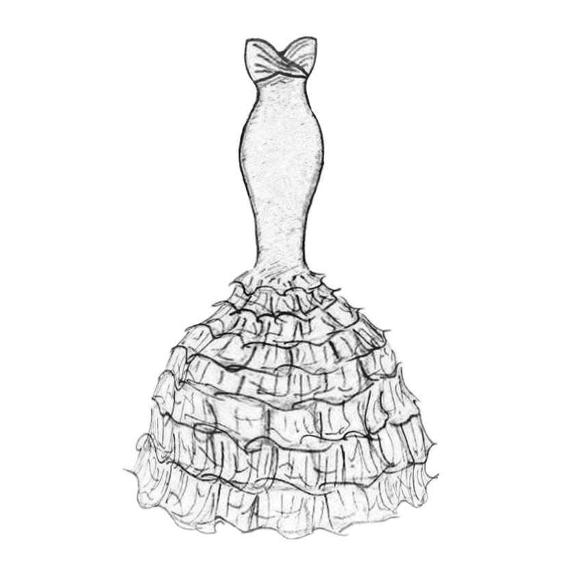 PANFELOU Ngàn lớp dress wedding dress thủ công kim loại giấy chết cắt chết Scrapbooking/DIY Dập Nổi Valentine thẻ Ngày của