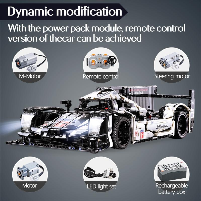 CADA Ausdauer RC Auto Bricks Kompatibel für legoingly Technik MOC Modell Bausteine Fernbedienung Auto Racing Spielzeug Für jungen - 4