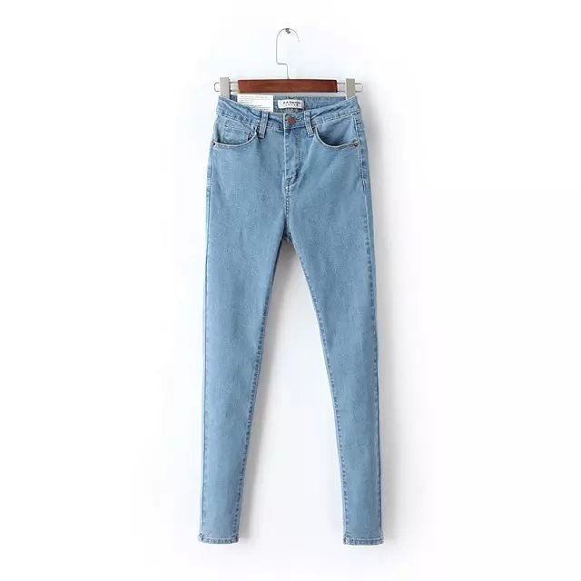 2016 Spring New Arrival Women Fashion High Waist Skinny Denim Pencil Pants, Femme Elastic Sexy Slim Jeans Brand Casual Trousers шариковая ручка waterman carene чернила синие корпус бело серебристый s0944680