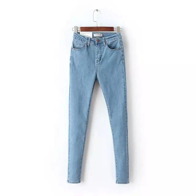 2018 Printemps Nouvelle Arrivée Femmes Mode Taille Haute Skinny Denim  Crayon Pantalon, Femme Élastique Sexy Mince Jeans Marque Casual Pantalon c7418badc6b