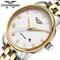 Classic Casual Watch stainless steel Men Brand GUANQIN waterproof  Business dress watches men quartz wristwatch Men clock hours
