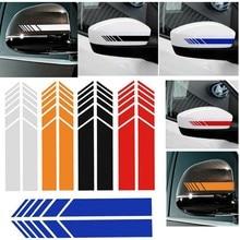 2 pçs carro espelho retrovisor lateral listras adesivos para decoração do carro espelho retrovisor vinil adesivos de carro estilo do carro 9449