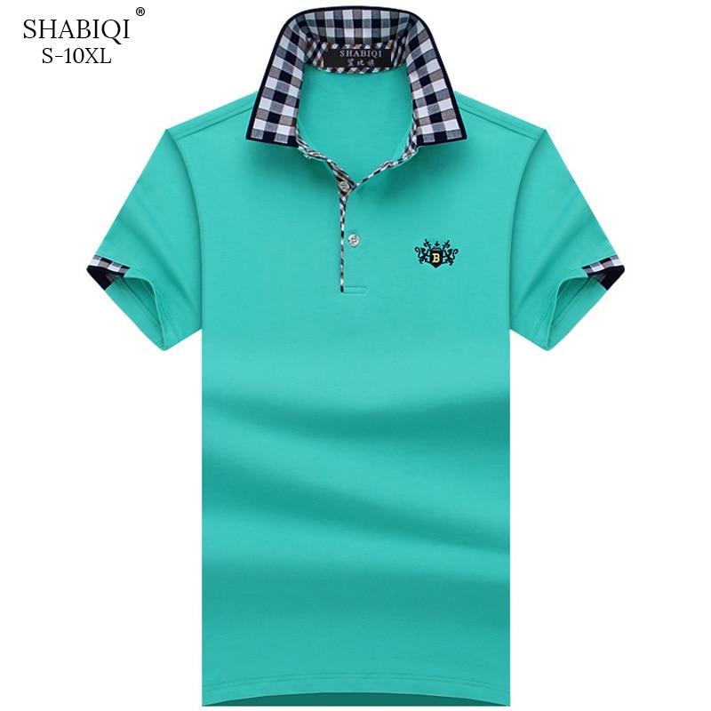 SHABIQI Plus Size S-10XL Brand New Men's Polo Shirt Men Cotton Short Sleeve Polo Shirt Embroidery Lion Mens Casual polo shirts
