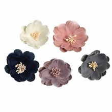 10pcs/lot 5Colors Small Simulation Winter Sweet Chiffon Flower Infant Hair Accessories For Headband Kidocheese
