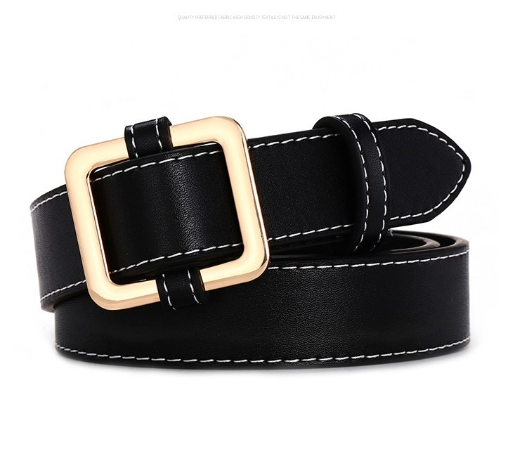 Горячая распродажа! женский ремень с пряжками и пряжками, с золотой пряжкой, для джинсов, для женщин, модные, студенческие, простые, повседневные брюки - Цвет: style 4 gold black