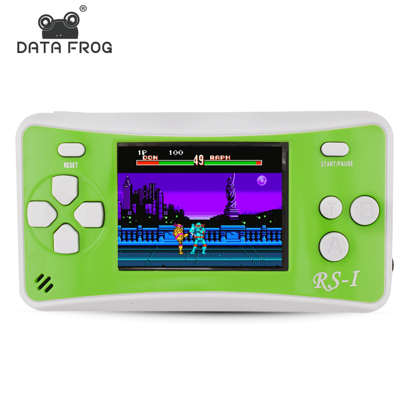 Data Frog Portable Game Console 2.5 Inch Handheld Game Player Built In 89 No Repeat Classic Games Consoles Best Gift For Kids handheld professional humidity and temperature sd data logger with built in internal