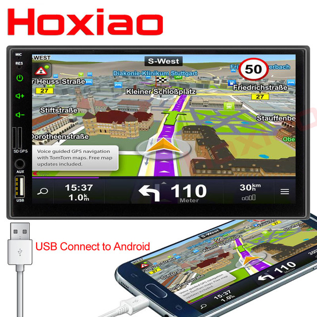 2 din Car DVD player 7'' Universal Double Din GPS Navigation Video Mutimedia Stereo audio MP5 Car radio multimedia player 2din