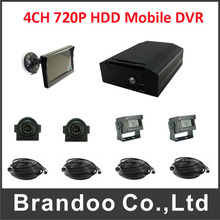 Cheap price 4CH H.264 Hard Disk HDD realtime digital video recorder car camera Vehicle Mobile DVR recorder