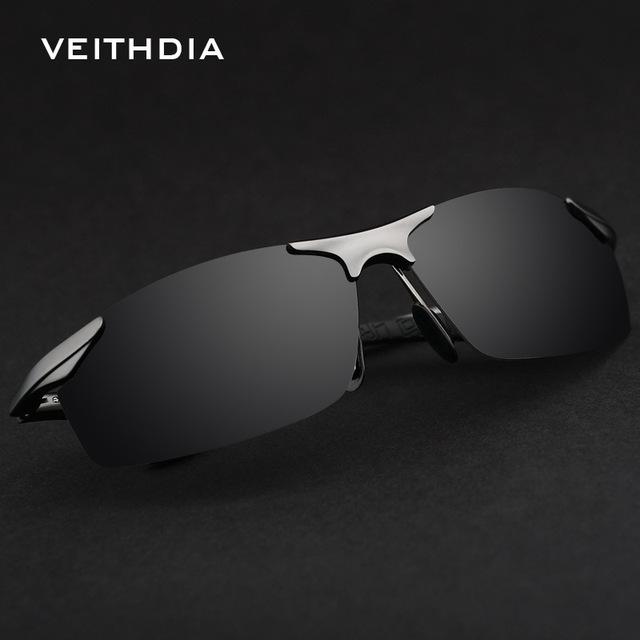 VEITHDIA Brand Designer Aluminum Polarized Mens Sunglasses Goggle Eyewear Male Accessories Sun Glasses UV400 For Men oculos 6529