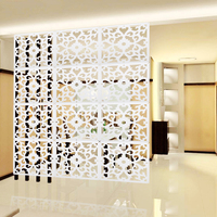 White Room Screen Divider Wall Hanging Curtain Panels Partition Carved Pattern Space Division Crafts Home Decoration 12Pcs/Lot