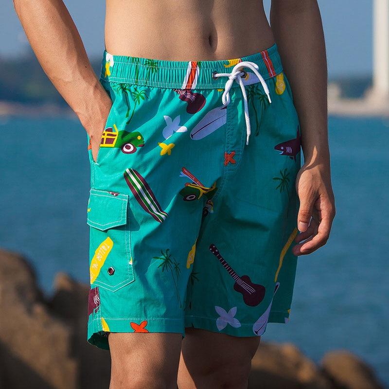 Summer Men's Board Shorts De Bain Swimsuit Beach Surf Man Swim Shorts Athletic Sport Running Hybrid Home Shorts