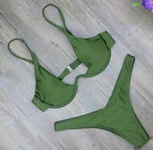 Sexy High Cut Thong Bathing Suit Low Waist Swimsuit Solid