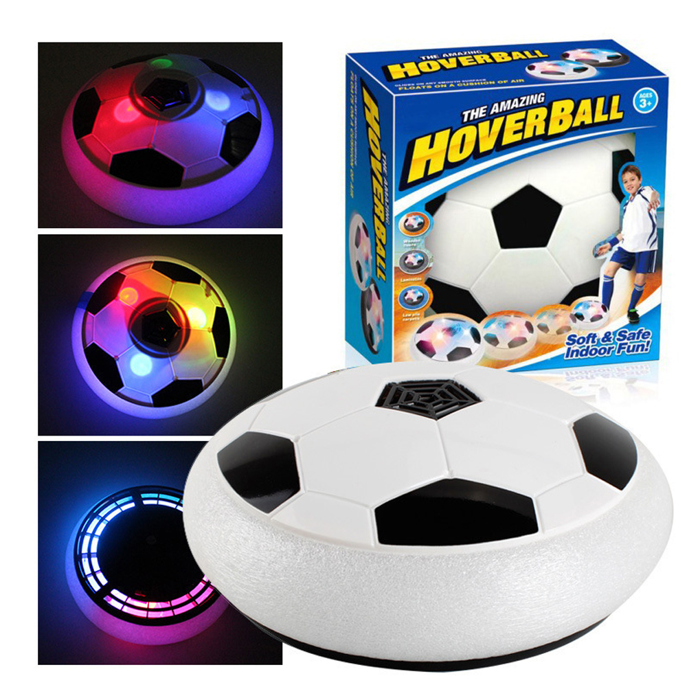 Air Power Soccer Football Sport Children Lighting Toys Training Indoor Outdoor Hover Ball With Foam Bumpers Christmas Gift