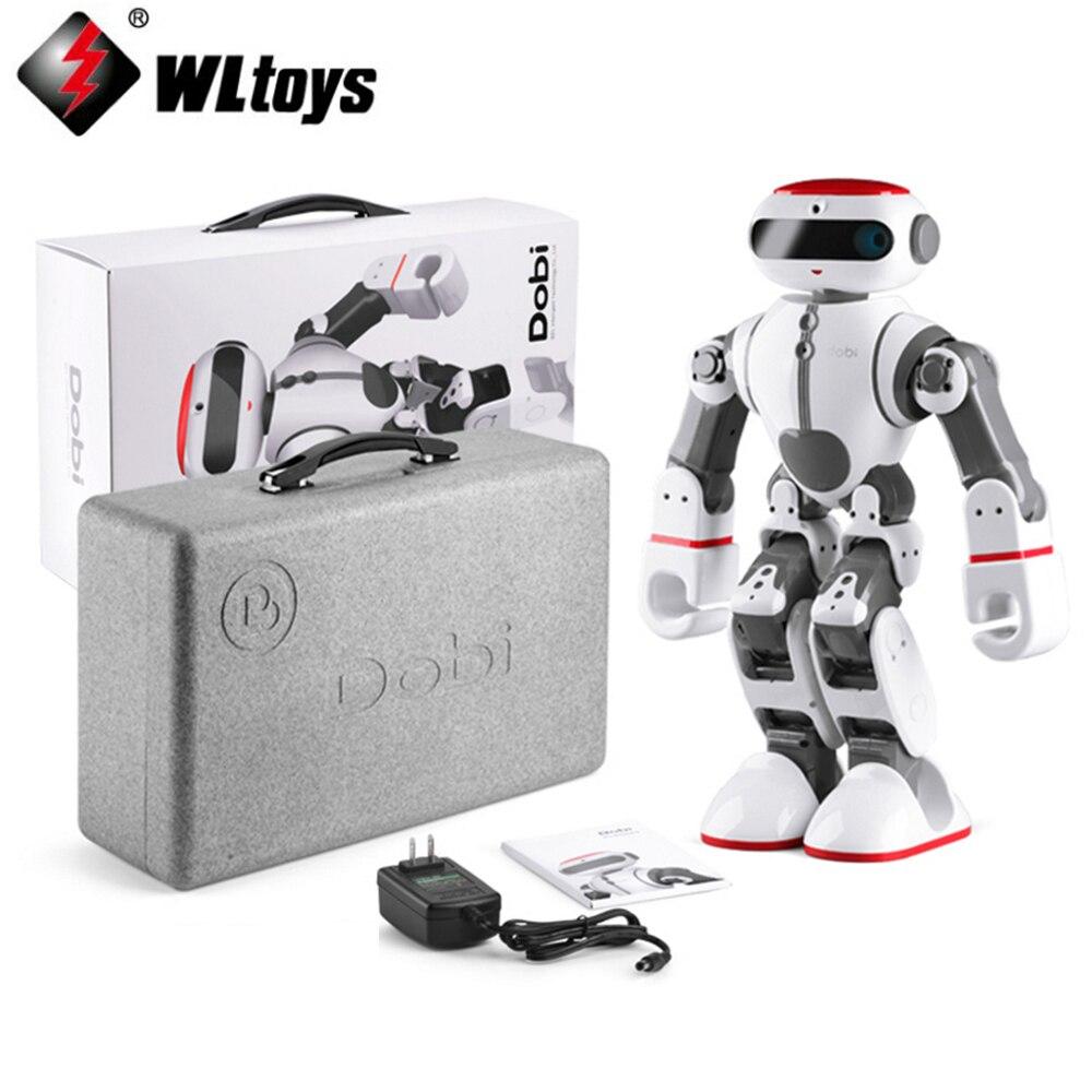 Доставка EMS/DHL! WLtoys F8 Доби интеллектуальные гуманоид голос Управление многофункциональный RC DIY робот для детей Подарки