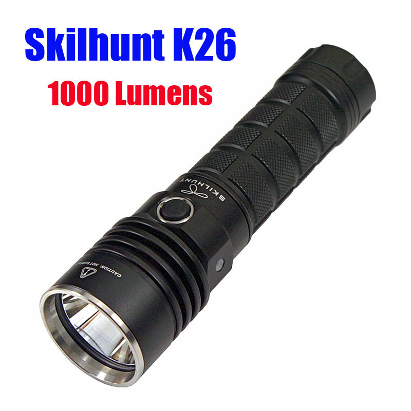 Skilhunt K26 CREE XM-L2 1000 Luems Led flashlight camping Torch compatible with 26650 Battery nitecore mt10a 920lm cree xm l2 u2 led flashlight torch