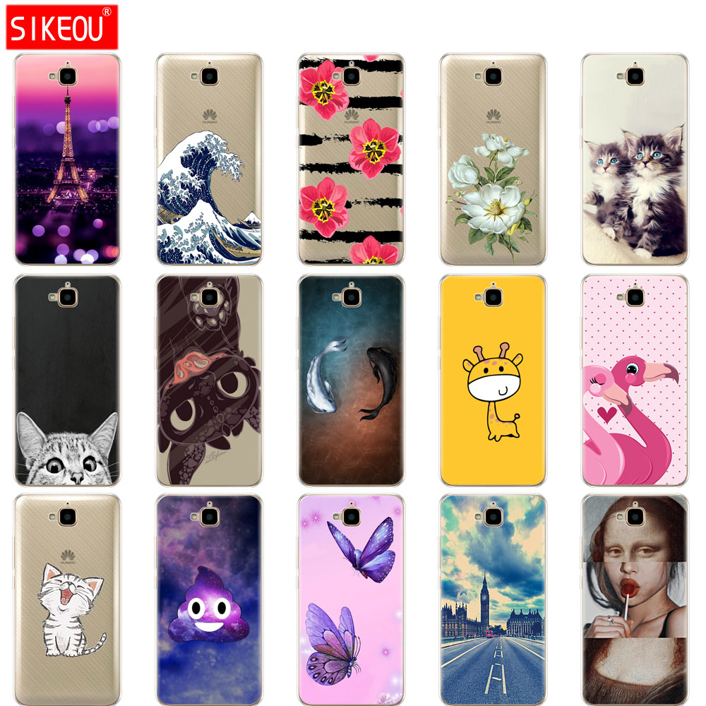 Case For Huawei Honor 4C Pro Case Honor 4C Pro Soft Tpu Silicone Back Cover For Huawei Y6 Pro 2015 Case TIT-L01 TIT-TL00 Phone