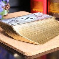 الذهبي حواف ماء شفاف مجموعة كازينو بوكر بطاقات اللعب البلاستيكية ، الإبداعية اللعب بطاقات ل جسر ألعاب