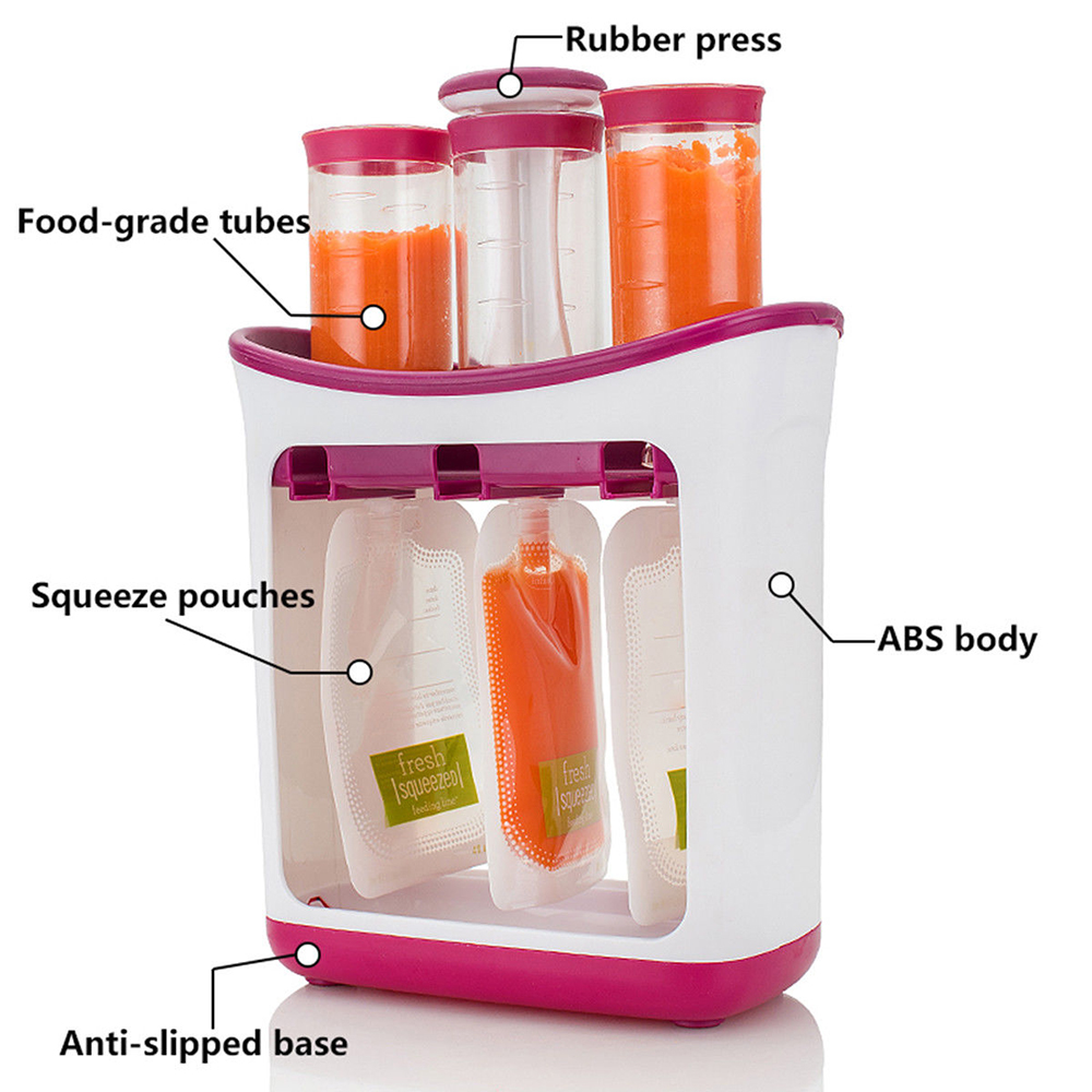 Hot-Baby-Feeding-Food-Squeeze-Station-Toddler-Fruit-Maker-Dispenser-Homemade-Food-grade-PP-3-Food