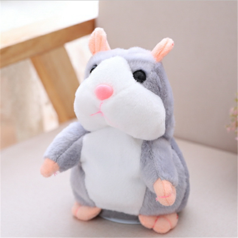 Hot Kids Talking Hamster Mouse Pet Plush Toy Soft Animals Speak Sound Record Hamster Educational Toy for Baby Children Gifts mouse