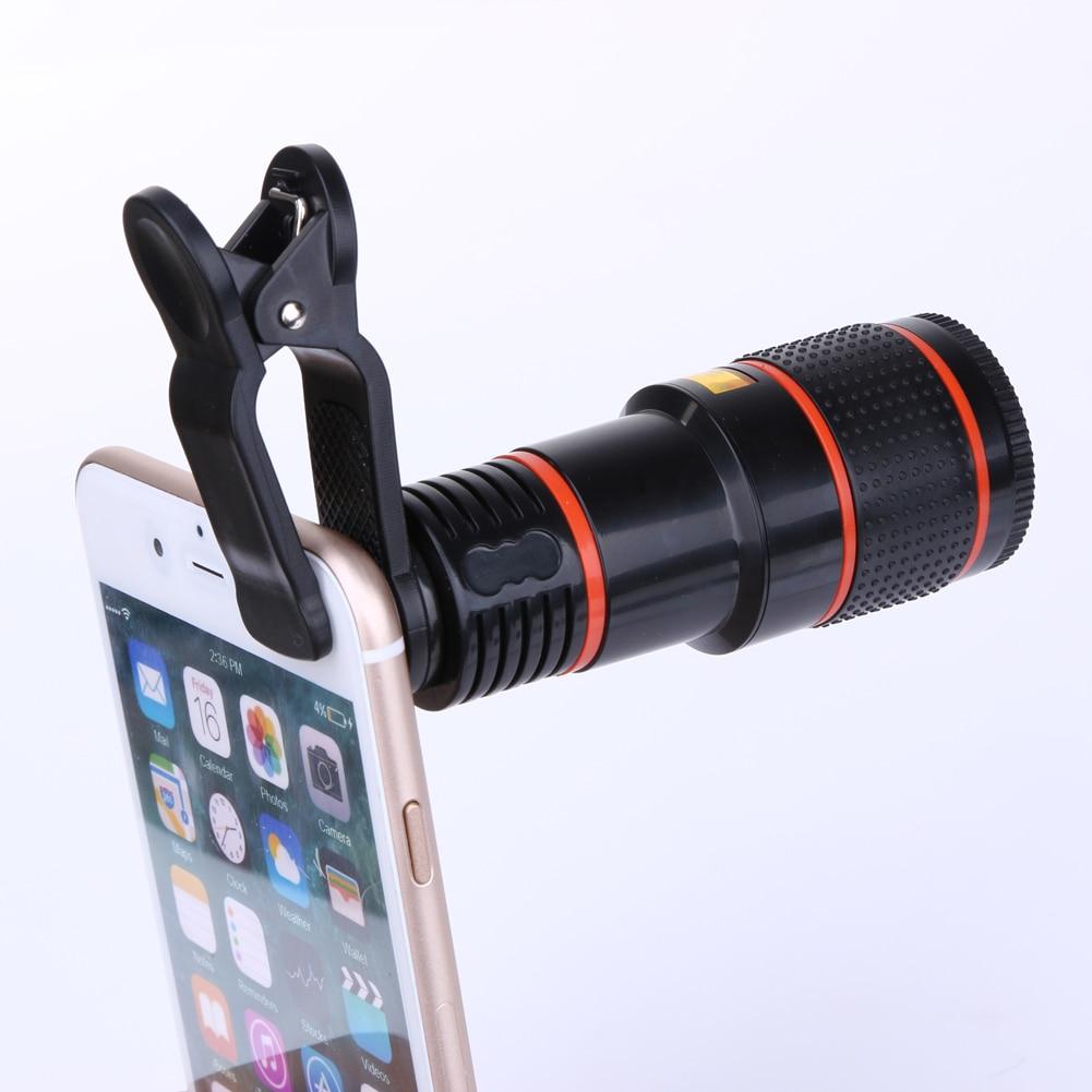 ALLOET 8X 12X Zoom Fish Eye Fisheye Kamera Optische Linse Mini Monokular Tele Teleskop Objektiv Für iPhone Samsung Xiaomi Huawei
