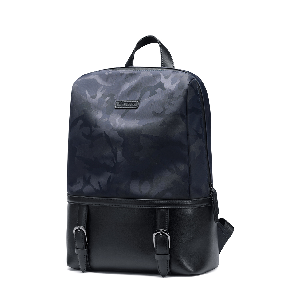 Men Backpacks High Quality Genuine Cow Leather Nylon Camouflage Man Schoolbag Large Capacity Male Waterproof Laptop Travel Bag 100% genuine leather men backpack large capacity man travel bags high quality male business bag for man computer laptop bag