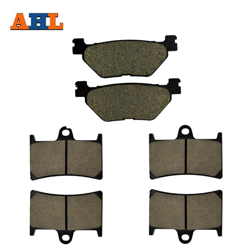 AHL Motorcycle Front and Rear Brake Pads For YAMAHA STREET BIKES TDM 900 TDM900 2002-2010 Brake Disc Pad motorcycle front and rear brake pads for yamaha fzr 400 a fzr400a 1990 brake disc pad