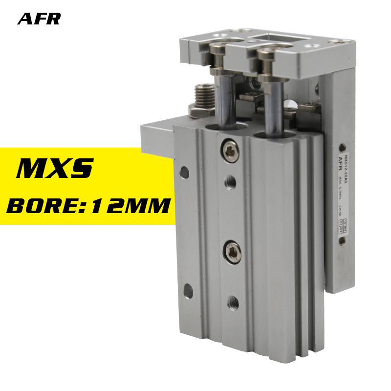 Double Acting Bore 12mm  Slide guide cylinder MXS12-75AS MXS12-100AS MXS12-75A MXS12-100A MXS12-50B  Pneumatic Air CylinderDouble Acting Bore 12mm  Slide guide cylinder MXS12-75AS MXS12-100AS MXS12-75A MXS12-100A MXS12-50B  Pneumatic Air Cylinder