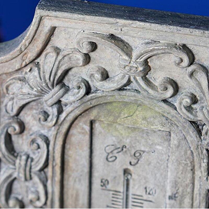 Barokke muur thermometer europese retro hars 3D stereo wanddecoratie thermografiek handwerk van woonkamer of cafes - 6
