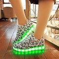 2017 Marca 11 Color Lumineuse Luminoso Casual Mujeres Chaussure schoenen zapatos Con Luces Led Enciende Para Arriba El Zapato Para Adultos