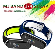 צמיד לxiaomi Mi Band 3 4 ספורט רצועת שעון סיליקון רצועת יד עבור xiaomi mi band 4 3 קוראת צמיד Miband 4 3 רצועה