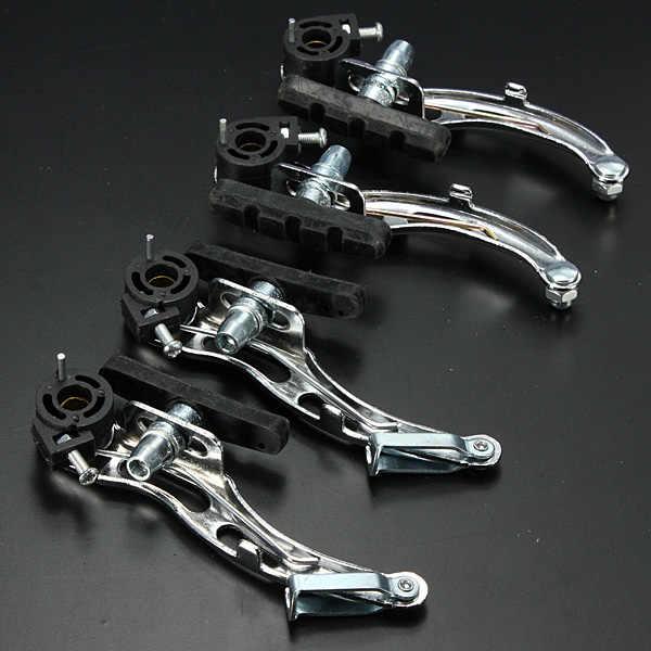 Perak Aluminium Alloy MTB Sepeda Gunung Sepeda Bersepeda V-Rem Set Depan + Belakang Rem Kit Bersepeda Spare Part Alat bagian
