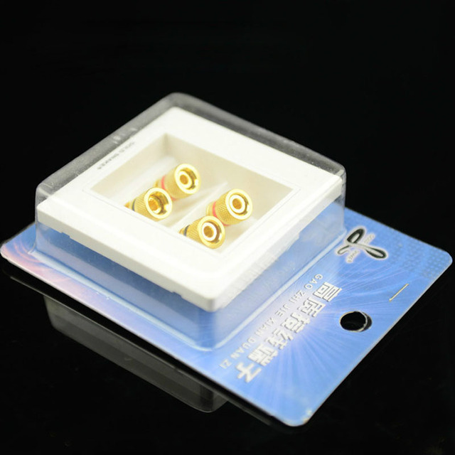 2 pièces Audio câble connecteur 2 et 4 haut-parleur jonction panneau prise de son prise murale prise boîtier banane connecteur colonne haut-parleur adaptateur