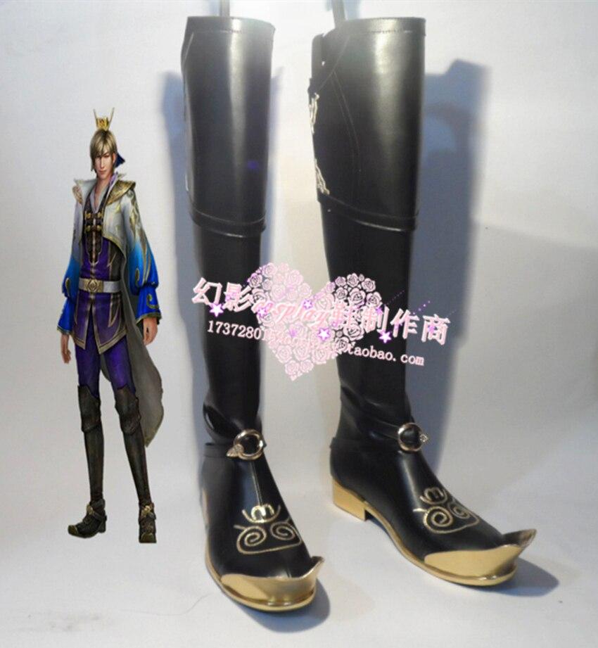 Shin Sangokumusou 7 cosplay Shoes Boots Custom Made 641