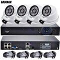 GADINAN 4CH 1080 P Sistema De CFTV 15 V POE NVR 1080 P Vídeo saída 4 PCS 2MP 1080 P IP CCTV Câmera de Vigilância de Segurança Em Casa Kits