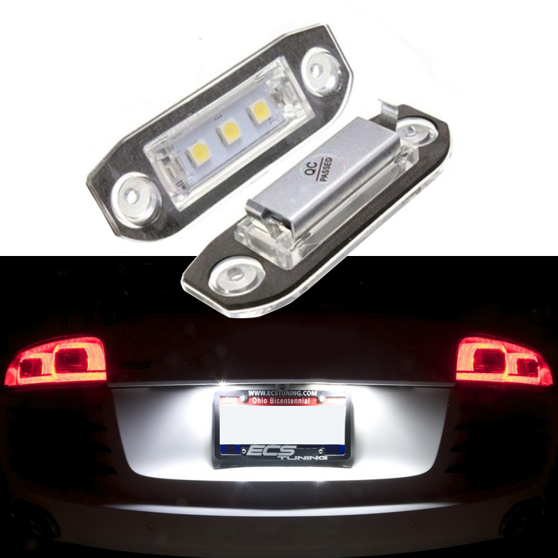 2x Canbus No Error <font><b>LED</b></font> License Plate <font><b>Light</b></font> Assembly for <font><b>Volvo</b></font> S80/XC90/S40/<font><b>V60</b></font>/XC60/S60/V70/C70/V50/XC70 Car Accesories Lamps image