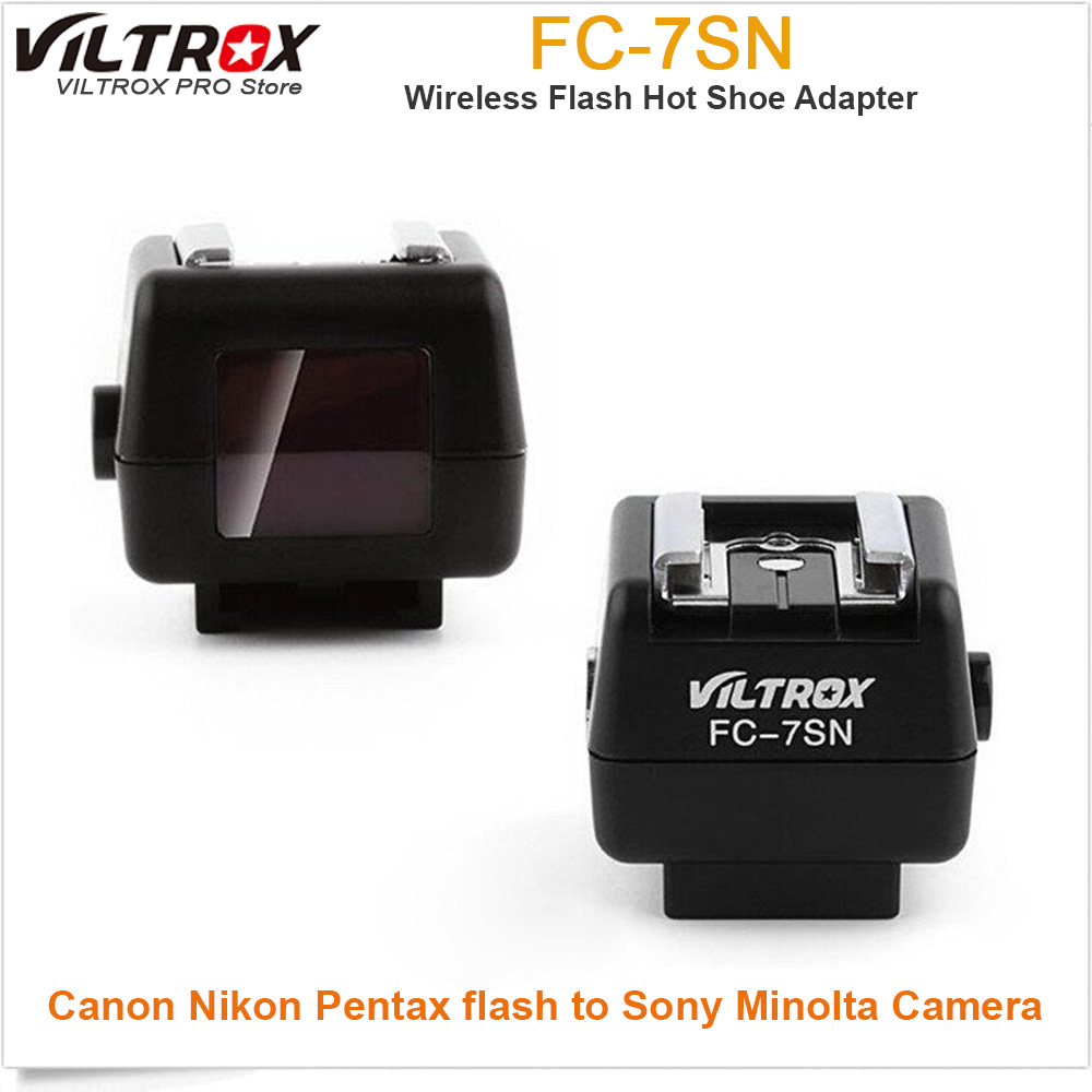 Viltrox FC-7SN Wireless Flash Hot Shoe Adapter Optical Slave Trigger PC Sync For Canon Nikon Pentax flash to Sony Minolta Camera hansa amm20bimh