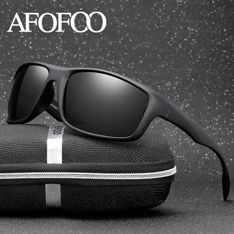 AFOFOO Classique lunettes de Soleil Polarisées Hommes Conduite Lunettes de Soleil Lunettes de Vision Nocturne Lunettes Mâle Lunettes UV400 Nuances Oculos de sol
