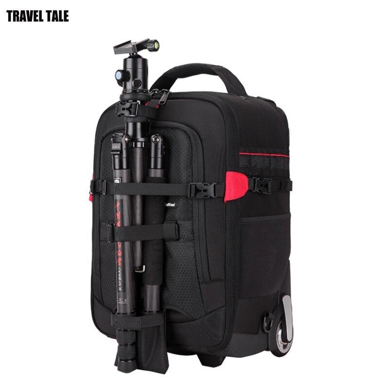 TRAVEL TALE Waterproof Professional DSLR camera luggage backpack Video Photo Digital Camera suitcase