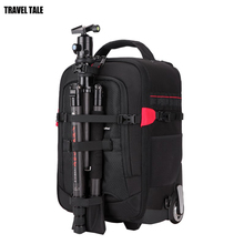 TRAVEL TALE Waterproof Professional DSLR camera luggage backpack Video Photo Digital Camera suitcase