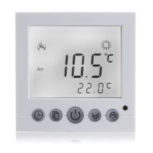 Best Buy White light LCD Display Thermostat Blue Backlet Weekly Program Heating Digital Thermometer Temperature Controller LCD Display
