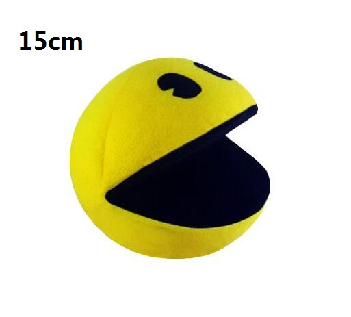 1 PCS PIXELS Movie Pacman Stuffed Toy Doll Og Pac Man Pac-mann Smilende ansikt Plysj Leker Q bert, julegaver