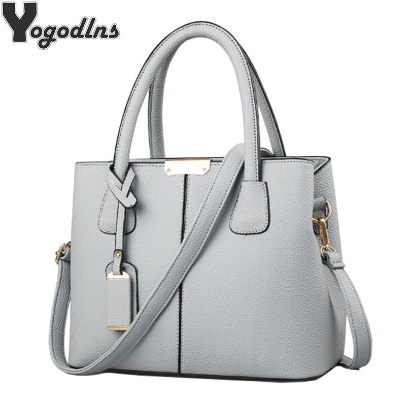 06cc413cbddf Women PU Leather Handbags Ladies Large Tote Bag Female Square Shoulder Bags  Bolsas Femininas Sac New