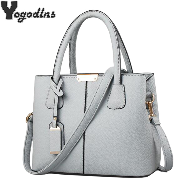 Women PU Leather Handbags Ladies Large Tote Bag Female Square Shoulder Bags  Bolsas Femininas Sac New e0654e14eca8