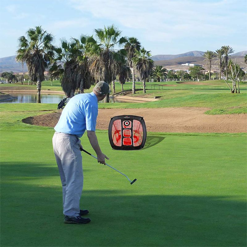 OOTDTY Golf Chipping Net Portable Foldable Outdoor Indoor Target Practice Aid-in Golf Training Aids from Sports & Entertainment