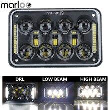 Marloo 1pcs 4x6 LED DOT Black Headlight DRL Lamp For Honda XR250 XR400 XR650 Suzuki DRZ Truck 6X4 Inch Headlights